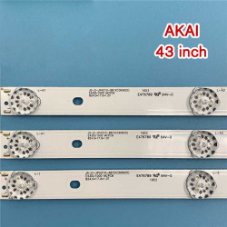 Barete led tv AKAI 43 inch JS-D-JP4310-B81EC JS-D-JP4310-A81EC, 3 barete 8 leduri