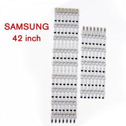 Set barete led TV Samsung 42 inch, 14 barete 9 si 5 leduri, D2GE-420SCB-R3 D2GE-420SCA-R3 2013SVS42F, BN96-25306A BN96-25307A