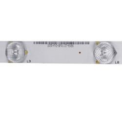 Set barete leduri tv IC-B-HWT32D168 / 180-W00-320002H , 2x10led