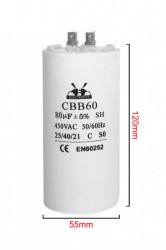 condensator pornire 80 μF 450 V