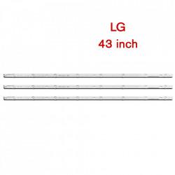 Set barete led LG 43 inch 43UF6407 UF64_UHD , 3 barete x 8 leduri