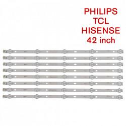 Set barete led Philips , TCL, HISENSE 42 inch K420WD7 A3 4708-K420WD-A3213K01 42PUF6052 8 barete x 5 led