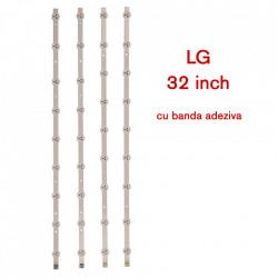 Set barete led TV LG 32 inch, 4 barete de 9 leduri, cip Koreea, 32'' ROW Rev 0.6 1 A/B-Type 6916L-1030A 6916L-1031A(1Set=2A+2B)