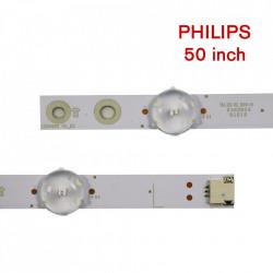 Set barete led Philips 50 inch 50PUS6162, 50PUS6703, 50PUS6753 LB50082 V0_03 V1 LB50086, LB50089 R L 5 barete x 5led+5 barete x 4led