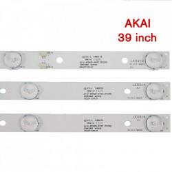 Set barete led tv Akai 39 inch, JS-D-JP3920-071EC, JS-D-JP3920-061EC, 2 barete 7leduri + 1 bareta 6 leduri