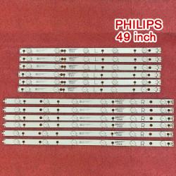 Set barete led Philips 49 inch 49PUH4900/88 EVT LBM490E0501-AJ-3(L) EVT LBM490E0601-AK-3(R) GJ-2K16-490-D611-P2-R GJ-2K16-490-D611-P2-L GJ-2K15-490-D611-C1-R GJ-2K15-490-D611-C1-L 6 barete x 6led + 6 barete x5led