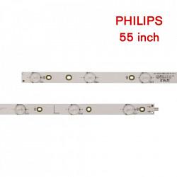 Set barete led Philips 55 inch 55PUS6501, 55PUS6561, 55PUS6581, 55PUS6101, 55PUS6401 LB55072 GJ-2K16-550-D714-V4-R L , 14 barete x 7led
