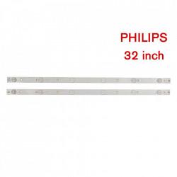 Set barete led tv Philips 32 inch, 320TT09 V6, YZ-32042000-1C543-0-4-3BF-0237, 2 barete 6 leduri