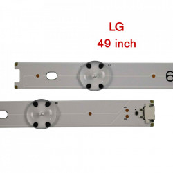 Set barete led LG 49 inch 49UH610T, 49UH610V, 49UH617T, 49UH617V 49LF510V, 49UH6100, 49UH6210, 49UH610A, V16.5 ART3 2706 6916L-2705A, 2706A, 2707A, 2708A 8 barete x 4 leduri