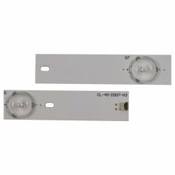"""Set barete Philips 40"""" 40PFL3088/12 CL-40-D307-V3, 3x7led, 6V"""