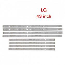 Set barete led LG 43 inch 43UJ620V CRH-A4330300104L6CNRev1.0 CRH-A4330300105R6CNRev1.0 4 barete x 4 led + 4 barete x 5 led
