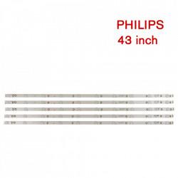 Set barete led Philips 43 inch 43PUH4900/88, 43PUK4900 GJ-2K15-430-D510-V4 LB-F3528-GJD2P5C435X10- B, LB43003, 5 barete x 10 led