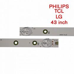 Set barete led tv Philips, LG, TCL 43 inch LB43015 V0_03, 5 barete cu 10 leduri