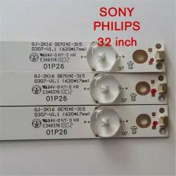 Set barete led tv Sony 32 inch , 3 barete 7 leduri