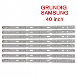 Set barete led Grundig, Samsung 40 inch 40VLE6520 2013ARC40_3228N1_5_REV1.1 , 8 barete x 5 led