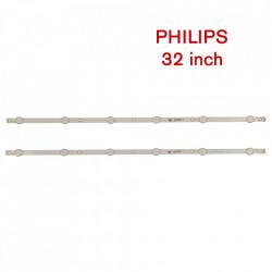 Set barete led Philips 32 inch 32PHS4112, 32PHT4112 GJ-2K18-315-D207-CSP-V5 GJ-2K17 CSP-315 Pitch 109 -V2.1 , 2 barete x 6 led