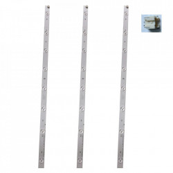 Set barete LED TV TOSHIBA 32 inch, set 3 barete cu 8 leduri, RT5-CNGHY-XA2580, 627 mm