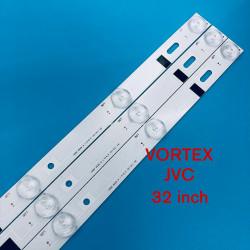 Set barete led TV Vortex , JVC 32 inch, 3 barete 7 leduri, HL-00320A28-0701S-04 180.DT0-32D900-0H ;