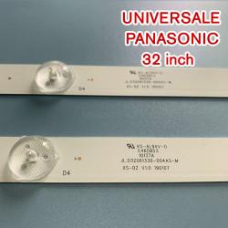 Set barete led 32 inch Universale pentru Panasonic JL.D32061330-057GS-M 2 barete x 6 leduri