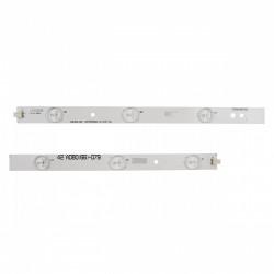 Set barete led Philips 42 inch LBM420P0601-CA-3 (HF) (0) LBM420P0501-CB-4(HF)(0) 6x(5led+6led)
