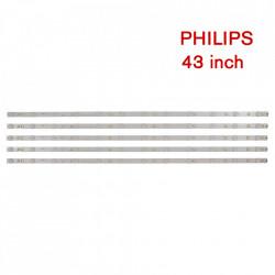 Set barete led Philips 43 inch 43PUS6501,43PUS6101, 43PUS6201, 43PUS7202 LB43014 V0_00, GJ-2K16-430-D512-V4 , 5 barete x 12 led