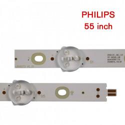Set barete led Philips 55 inch 55PUS7503, 55PUS6162, 55PUS6262, 55PUS6753, 55PUS7303, LB55073 V1_02, 12 barete x 5led