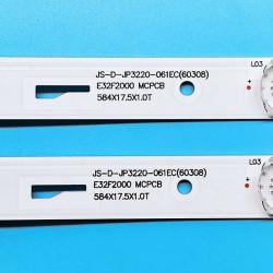 Set barete led tv AKAI 32 inch JS-D-JP3220-061EC(60308) 2x6led