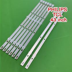 Set barete led TV Philips TCL 43 inch K430WDC1 A3 4708-K43WDC-A3113N11 43HFF5952, 8 barete de 3 leduri