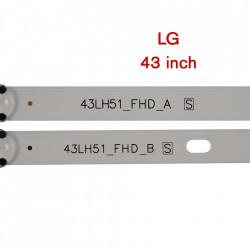 Set barete led LG 43 inch 43LF5100 LF51_FHD, 43LH51_FHD LF51_FHD, 43LH51_FHDLF51_FHD, 43LH51_FHD 6 barete (3x3led+3x4led)