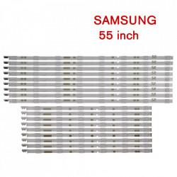 Set barete led Samsung 55 inch UE55JU6870UXZG, UE55JU6870UXXN V5DR-550SCA-R0 V5DR-550SCB-R0 9 barete x 8led+9 barete x6led