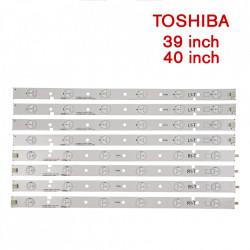Set barete led Toshiba 39 si 40 inch 39L2333D SVT390A12-REV1.0-R/ L, SVT400A94_REV03_L/R-TYPE_130314, 8 barete x 6 led