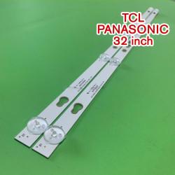 Set barete led TV TCL, Panasonic ,Vortex 32 inch TCL32D05-ZC22AG-16, PANASONIC 32D1200 32HR332M05A7 V2 , 2 barete 5 leduri
