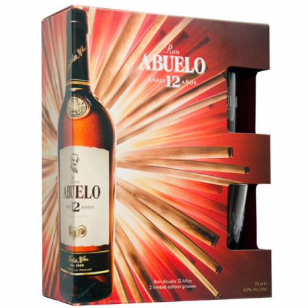 Abuelo 12yo Rom 0.7L pachet cu pahare
