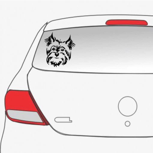 Sticker auto Yorkie 3