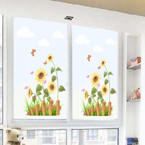 Sticker geam floarea soarelui 1