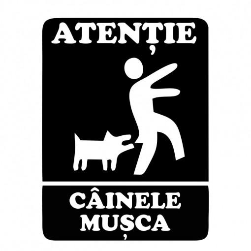 Sticker Indicator Cainele Musca