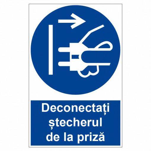 Sticker indicator Deconectati stecherul de la priza