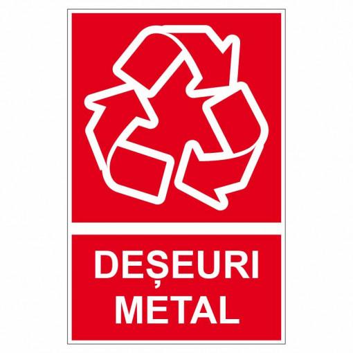 Sticker indicator Deseuri metal