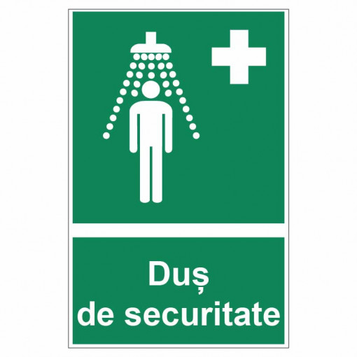Sticker indicator Dus de securitate