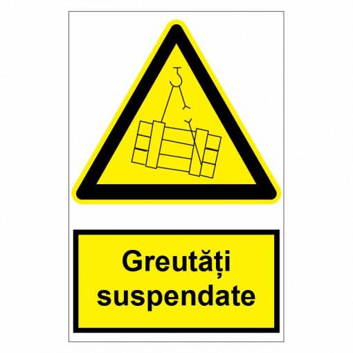 Sticker indicator Greutati suspendate