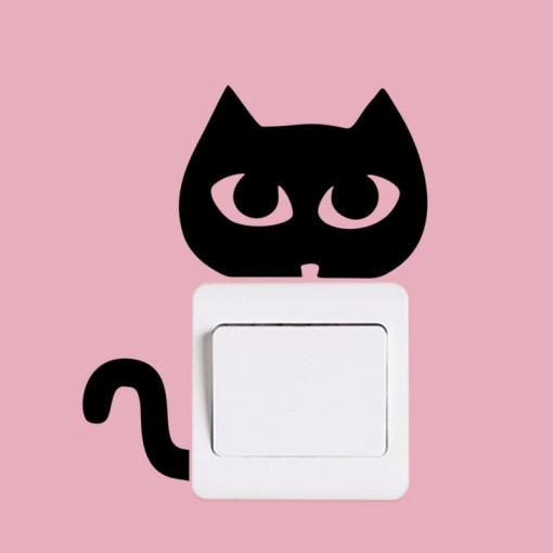 Sticker intrerupator Pisica Neagra