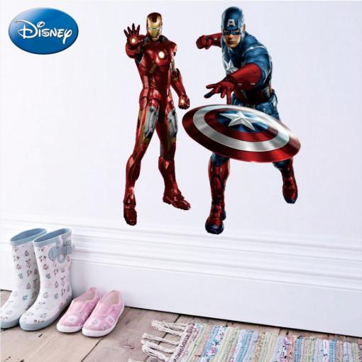 Sticker perete Captain America Si Iron Man