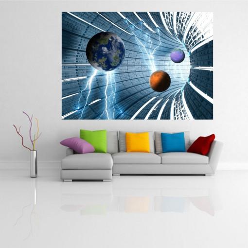 Sticker perete Galaxie 3D