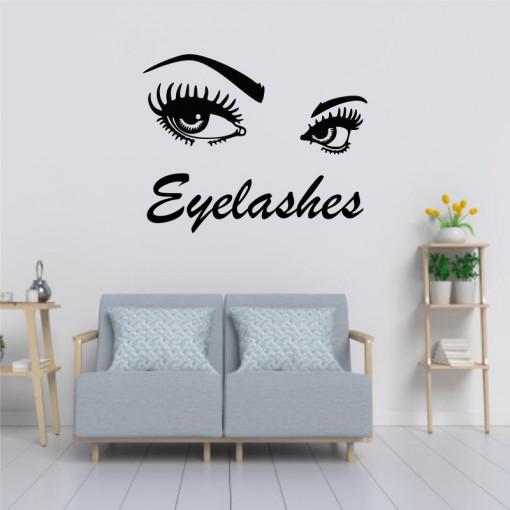 Sticker perete Salon Eyelashes 4