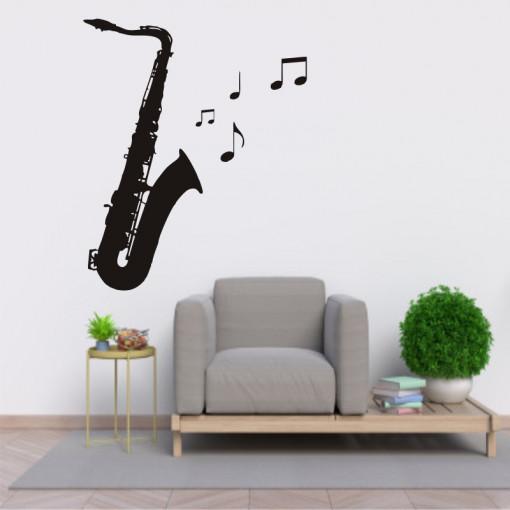 Sticker perete Saxofon