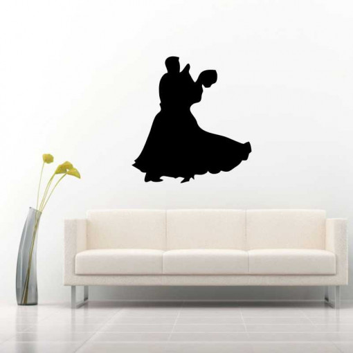 Sticker perete Siluete dansatori vals