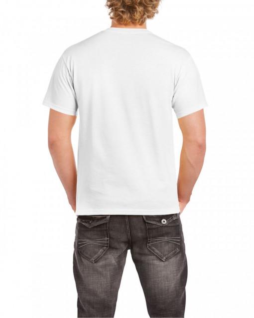 Tricou personalizat barbati alb In curand voi fi tatic (baietel) S