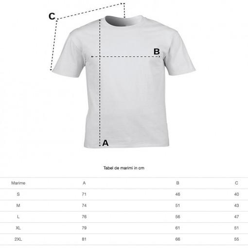 Tricou personalizat barbati negru Respect for Bikers S