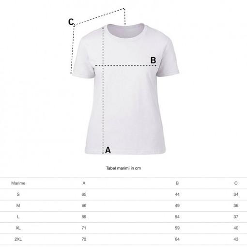 Tricou personalizat dama alb Team Bride 2 S