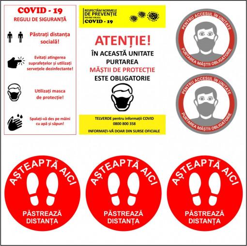 Set stickere indicatoare COVID